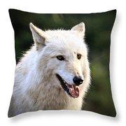 White Wolf Pant Throw Pillow
