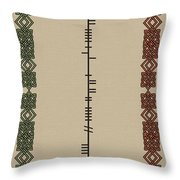White Written In Ogham Throw Pillow