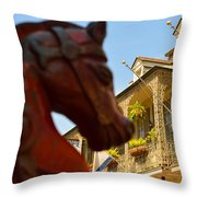 White Wrought Iron Throw Pillow
