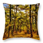 Whitebog Village Woods In New Jersey  Throw Pillow