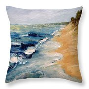 Whitecaps On Lake Michigan 3.0 Throw Pillow