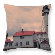 Whitefish Point Light Throw Pillow
