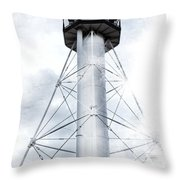 Whitefish Point Lighthouse Throw Pillow