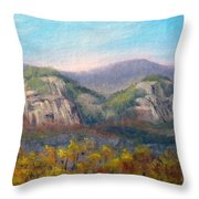 Whitehorse And Cathedral Ledges From The Red Jacket Inn Throw Pillow