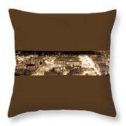 Whitehorse Downtown At Night Throw Pillow