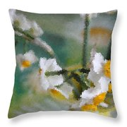 Whiteness In The Vase Throw Pillow