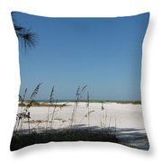 Whitesand Beach Throw Pillow