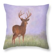 Whitetail Throw Pillow by David Stribbling