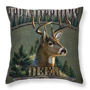 Whitetail Deer Traditions Throw Pillow