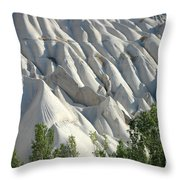 Whitewashed Rock From A Hot Air Balloon Throw Pillow