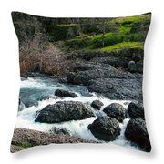 Whitewater At Bear Hole Throw Pillow