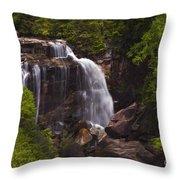 Whitewater Falls Nc Throw Pillow