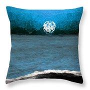 Whitewater In The Moonlight Throw Pillow