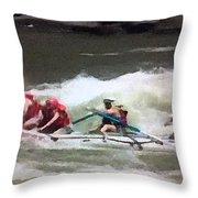 Whitewater Rafting Throw Pillow
