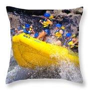 Whitewater Thrill Ride Throw Pillow by Thomas R Fletcher