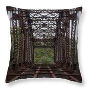 Whitford Railway Truss Bridge Throw Pillow