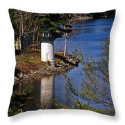 Whitlocks Mill Lighthouse Throw Pillow