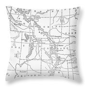 Whitman's Route Throw Pillow