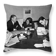 Whitney & Co. Investigation Throw Pillow