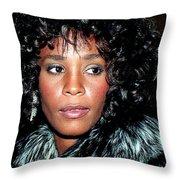 Whitney Houston 1989 Throw Pillow