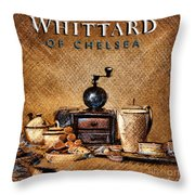Whittard Of Chelsea Tea Coffee And Drawings Throw Pillow