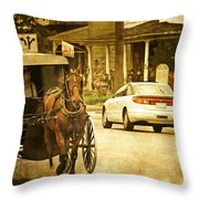 Who Are The Amish Throw Pillow