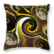 Who Dat Black And Gold Throw Pillow