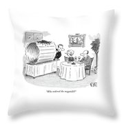 Who Ordered The Megatelli? Throw Pillow