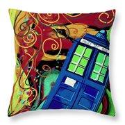 Spiral Through Time Throw Pillow