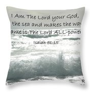 Who Stirs The Sea Throw Pillow