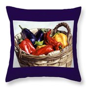 Who Wants To Blister The Peppers Throw Pillow