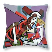 Who Will Take This Cup Throw Pillow by Anthony Falbo