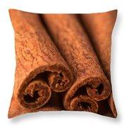 Whole Cinnamon Sticks  Throw Pillow