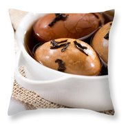 Whole Smoked Eggs Throw Pillow