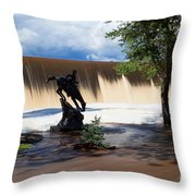 Who'll Stop The Rain Throw Pillow