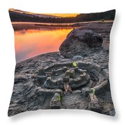 Whonnock Lake Sand Castle Throw Pillow