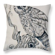 Whooo Are You Throw Pillow