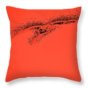 Whooper Swan Red Abstract Throw Pillow