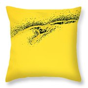 Whooper Swan Yellow Abstract Throw Pillow