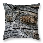 Whorls Of Wood Throw Pillow