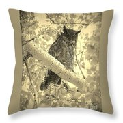 Who's Watching - Sepia Throw Pillow