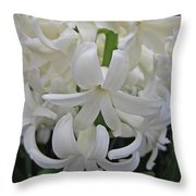 Whte Hyacinth Throw Pillow