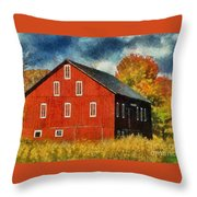 Why Do They Paint Barns Red? Throw Pillow