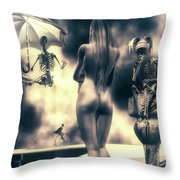 Why Follow The Yellow Brick Road - Penny-farthing Throw Pillow