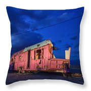 Why Pink Airstream Travel Trailer Throw Pillow
