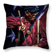 Wi Colored Infantry Sharpshooter - Oil Throw Pillow