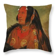 Wi-jun-jon. Pigeons Egg Head. A Distinguished Young Warrior Throw Pillow