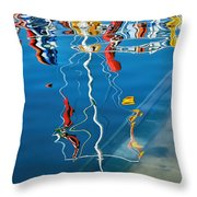 Wibbly Wobbly Flagpole Reflections Throw Pillow