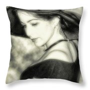Wiccan Lady Throw Pillow