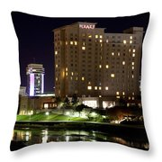 Wichita Hyatt Along The Arkansas River Throw Pillow